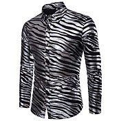 Men's Basic Shirt - Striped Print
