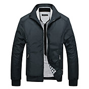 Men's Sports Jacket - Solid Colored Stand...