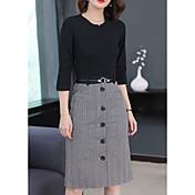 women's work sheath dress midi