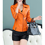 Women's Street chic Leather Jacket - Cont...