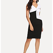 women's cotton shift dress knee-length