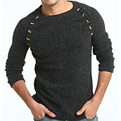 Men's Basic Pullover - Solid Colored