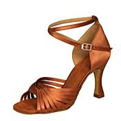 Women's Latin Shoes Satin Sandal / Heel F...