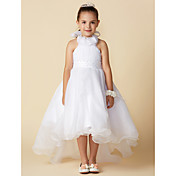 A-Line Asymmetrical Flower Girl Dress - O...