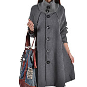 Women's Basic / Street chic Coat - Solid ...