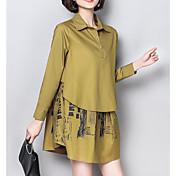 women's shirt - color block shirt collar