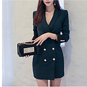 Women's Flare Sleeve Bodycon Dress - Soli...
