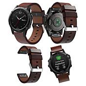 Klockarmband för Fenix 5 Garmin Läderlo...