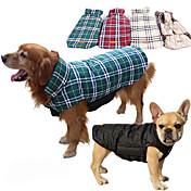 Hund Kappor Väst Hundkläder Pläd/Rutig Be...