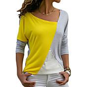 women's loose t-shirt - color block round...