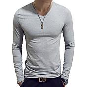 Men's Basic Cotton Slim T-shirt - Solid C...