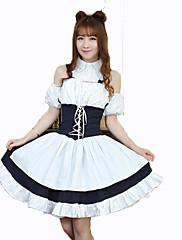 Jednodílné/Šaty Gothic Lolita Princeznovské Cosplay Lolita šaty Módní Krátký rukáv Short / Mini Šaty Pro