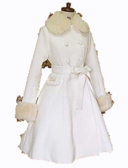 Kabát Gothic Lolita Princeznovské Cosplay Lolita šaty Černá Bílá Módní Dlouhý rukáv Lolita Kabát Pro
