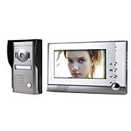 Sistema de telefone de porta de vídeo de 7 polegadas com câmera de cobertura à prova de intempéries