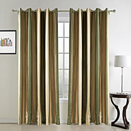 Mediterranean Two Panels Stripe  Bedroom Rayon Curtains Drapes