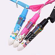 cartoon patroon pen 10 kleuren automatische balpen (willekeurige kleur)