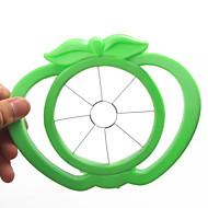 alma alakú műanyag könnyű gyümölcs szeletelő vágó eszköz (véletlenszerű szín)