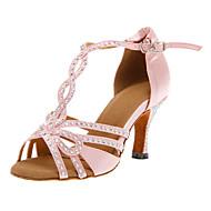 Femininos personalizados agradáveis cetim superior sapatos de dança