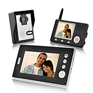 Konx® wireless video door phone receptores duplos impermeáveis visão noturna desbloqueio sem fio