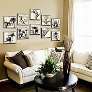 Bloemenmotief/Botanisch Ingelijst canvas / Ingelijste set Wall Art,PVC Materiaal Champagne Zonder passepartout met Frame For Huisdecoratie