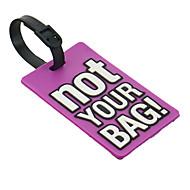 Etiquette de bagage(Lilas)Thème classique-Non personnalisée Ruban