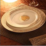 צלחות בסגנון אירי ארוחת ערב, קבוצה של 2, 25.5cm פורצלן וצלחות 21cm