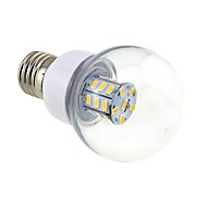 4w e26 / e27 ampoules munies led g60 27 smd 5730 500 lm blanc chaud blanc 12 / ac 12 / a 24 / sec 24 v