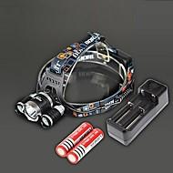 RJ-3000 Hoofdlampen Opladers LED 4000 Lumens 4.0 Modus Cree XM-L T6 Oplaadbaar Slagring voor Kamperen/wandelen/grotten verkennen Reizen
