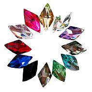 24PCS Mixs väri Glitter Rhombus Rhinestone Nail Art Koristeet