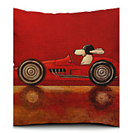 Cartoon Dog Driver Cotton/Linen Decorative Pillow Cover