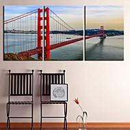 lona personalizado impressão baía galeria ponte 40 x 60cm 28 x 40cm envolto conjunto arte de 3