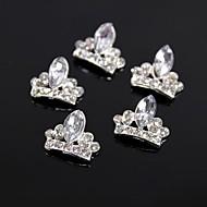 10kpl glitter kruunu suuri kristalli strassi 3d metalliseos kynsikoristeet koriste