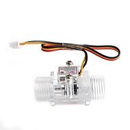 yuanbotong YF-S201C 1/2 polegada sensor de fluxo de água - transparente