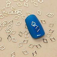 200kpl ontto timantti muoto kultainen metalli viipale kynsikoristeet koriste