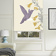 Painting Style Simple Blue Hummingbird Roller Shade