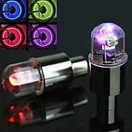自転車用ライト / パルブキャップフラッシングライト サイクリング アラーム AG10 / ボタン電池 ルーメン バッテリー サイクリング-FJQXZ®