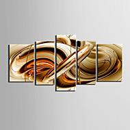 Kanvas Sæt AbstraktFem Paneler Horisontal Kunsttryk Vægdekor For Hjem Dekoration