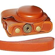עור שמן נרתיק עור מצלמת dengpin® עם רצועת כתף עבור sony DCS-rx100 ii m2 m3 rx100 iii rx100