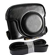 dengpin® lederen afneembare beschermende camera case tas hoes opladen stijl met schouderband voor Canon PowerShot G16