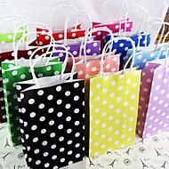 artesanato partido gif papel de bolinhas sacos saco de papel portátil