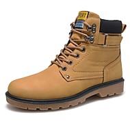 Herre-Kunstlær-Flat hæl-Komfort-Støvler-Fritid-