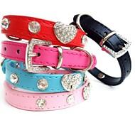 Kissat / Koirat Kaulapannat Tekojalokivi Punainen / Maalattu / Sininen / Pinkki / Ruusunpunainen PU Leather