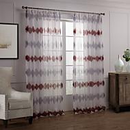 Dva panely Window Léčba Moderní , Novinka Ložnice Polyester Materiál Sheer Záclony Shades Home dekorace For Okno