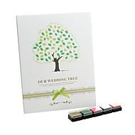 """""""Meidän häät puu"""" sormenjälki allekirjoitus vieraskirjaan kanssa 5 väriä InkPad"""