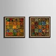Fantasia Quadros Emoldurados / Conjunto Emoldurado Wall Art,PVC Dourado Sem Cartolina de Passepartout com frame Wall Art