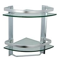 Badezimmer Regal Aluminium Wandmontage 35.5cm(14'')*24.5cm(9.6'')*35.5cm(14'') Aluminium / Gehärtetes Glas Modern