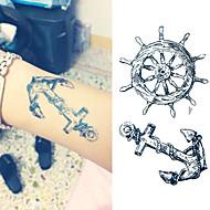 1 Tatuagens Adesivas Série mensagem não tóxica Lombar Á Prova d'águaCriança Feminino Masculino Adulto Adolescente Flash do tatuagem