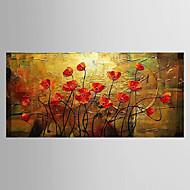 Maalattu Asetelma Kukkakuvio/Kasvitiede Moderni 1 paneeli Kanvas Hang-Painted öljymaalaus For Kodinsisustus