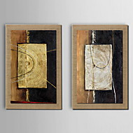 Abstrato Quadros Emoldurados Conjunto Emoldurado Arte de Parede,PVC Material Marrom Sem Cartolina de Passepartout com frame For Decoração