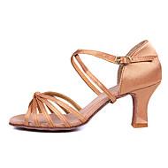 Aanpasbaar - Voor dames - Dance Schoenen (Bruin/Anders) - met Aangepaste  hak - en Latijn/Salsa